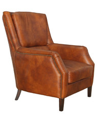 Bakers Arm Chair In Vintage Cigar Leather