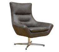 York Swivel Accent Chair in Smoke Gray