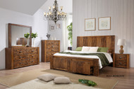 Maya Queen Bed with 2 Bedside Cabinets