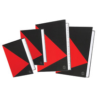 MARBIG A5 NOTEBOOK - 200 PAGE RED/BLACK