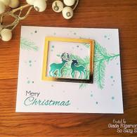 Deer frame card by Giada