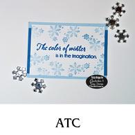 Winter Color ATC