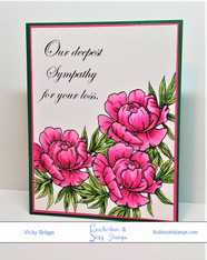 Deepest Sympathy with Peony