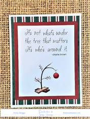 Charlie Brown Saying and Tree