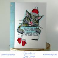 Kitty Spreading Warm Wishes