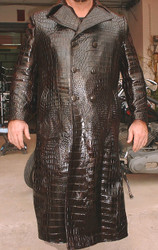 All Crocodile Full Length Trench Coat XX/L