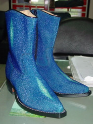Blue Stingray half boots cowboy style