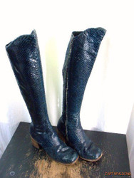 Blue Snake Casual High Boots