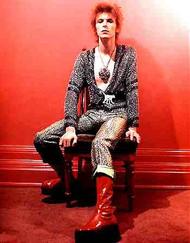 David Bowie Red Vinyl Boots Replica