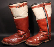 FB-LWBR; Flight Boot -German Luftwaffe,Brown and Tan Fleece Lined