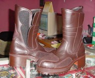 Heel and Platform Motorcycle Boots for Ladies