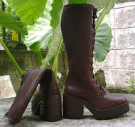 Lace and Zipper Boots