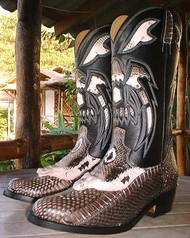 Snake and Leather Cowboy/Girl Boots