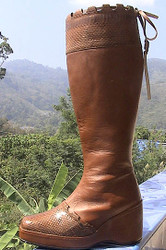 Snake & Cowhide wedge sole Dress Boot ANY SIZE