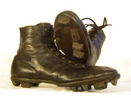 Vintage 1890s Football Shoes with Staked Leather Cleats