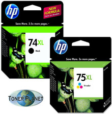 HP 74XL/75XL Black/Tri-color Combo Pack (CB336WN#140, CB338WN#140)