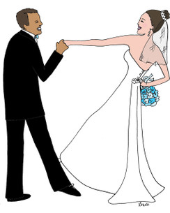 Interracial Bridal Dance cards