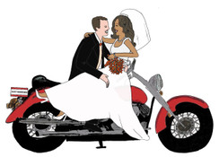 Interracial Bridal Biker cards