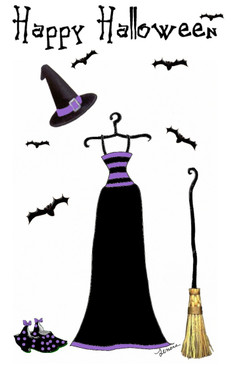 Witch Costume cards