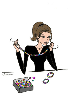 Bead Girl cards