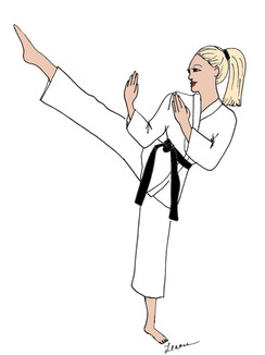 Karate Girl cards