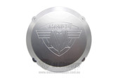 Ignition Cover Billet Alloy Maico 78-86 Silver with Logo (MX only)
