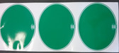 "Decal Number Plate Oval ""Maico Logo"" Green (set 3)"