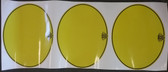 "Decal Number Plate Oval ""Maico Logo"" Yellow (set 3)"
