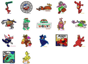 Elmo In Grouchland MACHINE EMBROIDERY DESIGNS Set of 17
