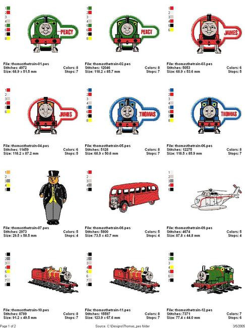 Thomas The Train Machine Embroidery Designs Desiznsnet