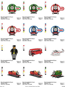 THOMAS THE TRAIN MACHINE EMBROIDERY DESIGNS