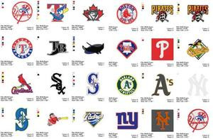 MLB BASEBALL SPORTS LOGOS MACHINE EMBROIDERY DESIGNS