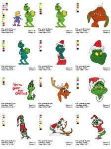 GRINCH MACHINE EMBROIDERY DESIGNS