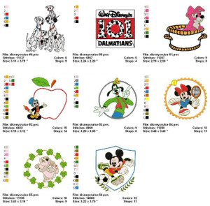 DISNEY CRUSELINE MACHINE EMBROIDERY DESIGNS