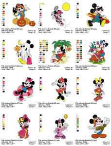 MICKEY MOUSE & FRIENDS MACHINE EMBROIDERY DESIGNS
