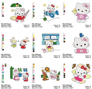 HELLO KITTY MACHINE EMBROIDERY DESIGNS