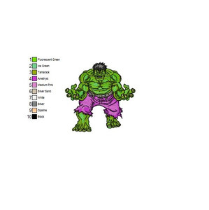 THE INCREDIBLE HULK EMBROIDERY MACHINE DESIGNS