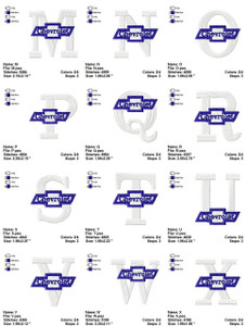 CHEVY  ALPHABETS   EMBROIDERY DESIGNS INSTANT DOWNLOAD AMAZING COLLECTION