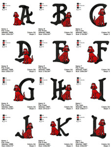 CLIFF  ALPHABETS   EMBROIDERY DESIGNS INSTANT DOWNLOAD THE BEST COLLECTION