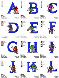 MNM ALPHABET  EMBROIDERY DESIGNS INSTANT DOWNLOAD HUGE COLLECTION