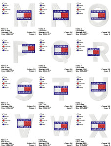TOMMY ALPHABET  EMBROIDERY DESIGNS INSTANT DOWNLOAD AMAZING COLLECTION