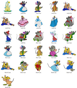 Cinderella DISNEY  EMBROIDERY DESIGNS INSTANT DOWNLOAD BIG COLLECTION
