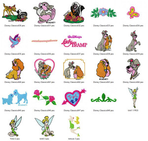 DISNEY CLASSICS  EMBROIDERY DESIGNS INSTANT DOWNLOAD BIG COLLECTION