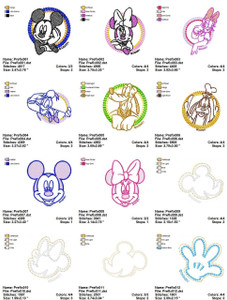 DISNEY STITCH EMBROIDERY DESIGNS INSTANT DOWNLOAD BIG COLLECTION