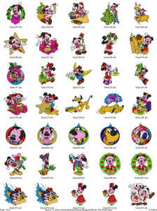 MICKEY CHRISTMAS DISNEY EMBROIDERY DESIGNS INSTANT DOWNLOAD BIG COLLECTION