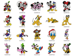 MICKEY DISNEY HOLIDAY EMBROIDERY DESIGNS INSTANT DOWNLOAD BEST COLLECTION