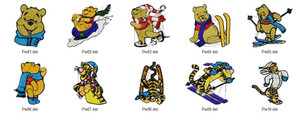 POOH WINTER DISNEY HOLIDAY EMBROIDERY DESIGNS INSTANT DOWNLOAD BEST COLLECTION