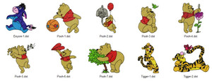 SUMMER POOH  DISNEY HOLIDAY EMBROIDERY DESIGNS INSTANT DOWNLOAD BEST COLLECTION