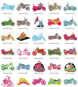 MOTORCYCLES  EMBROIDERY DESIGNS INSTANT DOWNLOAD BIG COLLECTION