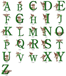 CUTE CUPID ALPHABETS A-Z  EMBROIDERY DESIGNS INSTANT DOWNLOAD CUTE COLLECTION